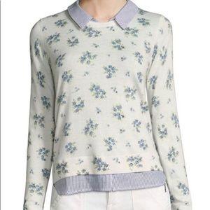 Joie Rika J Layered Floral-Print Sweater